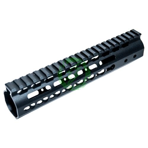 "ZCI 9"" Aluminum CNC Keymod Handguard for M4 | Black"