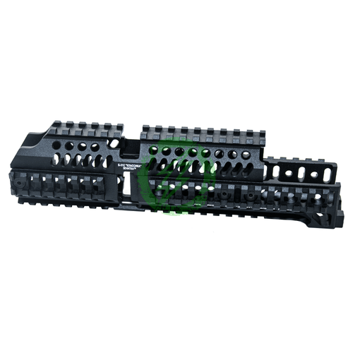 LCT Z-Series B-31 Classic Upper Rail Handguard | Black together