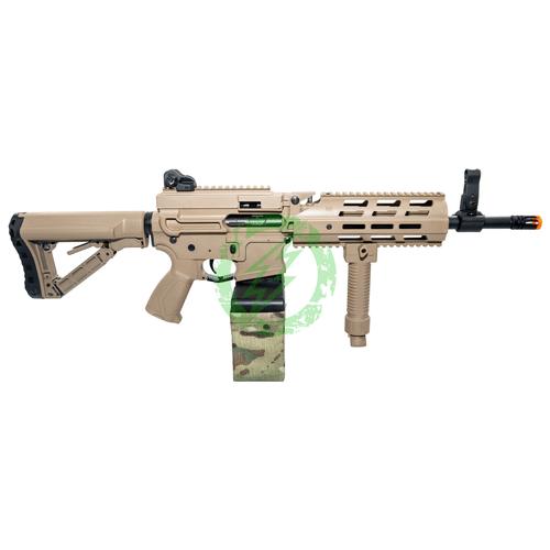 G&G Tan Combat Machine CM16 LMG right