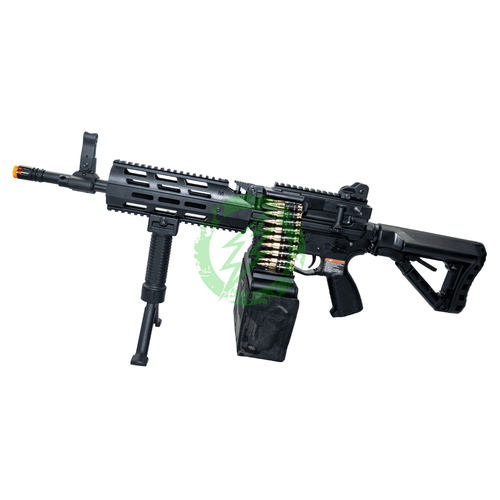 G&G Combat Machine CM16 LMG Stealth left