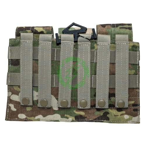 Condor Scorpion OCP Closed Top Triple M4 Mag Pouch  back