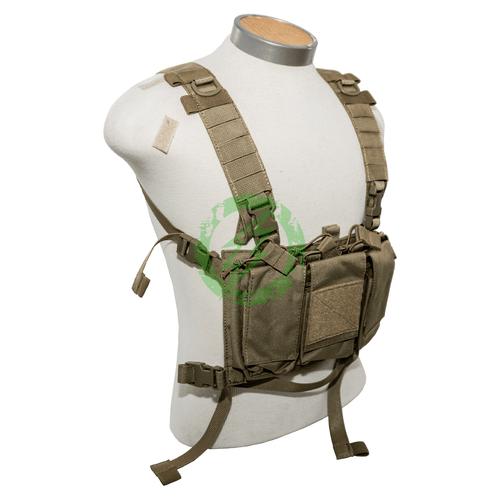 Lancer Tactical Adaptive Multi-Purpose Slim Chest Rig tan