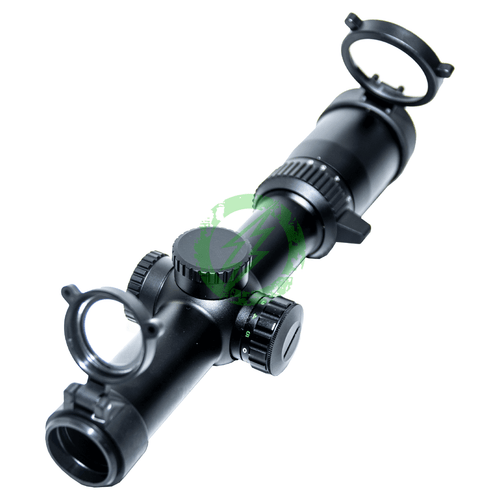 NC Star STR Series 1-6x24 Rifle Scope | 30mm Tube Green/Red Illumination back