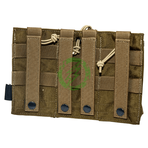 Flyye Industries Triple M4 Open Top Magazine Pouch | Coyote Brown back