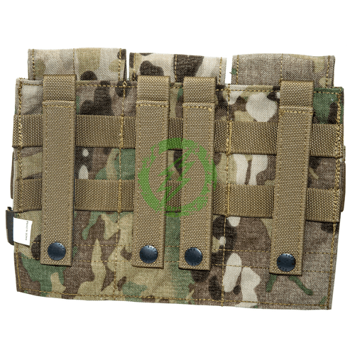 Flyye Industries Triple M4 Closed Top Magazine Pouch multicam back