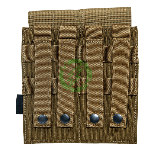 Flyye Industries Double M4 Closed Top Magazine Pouch | Coyote Brown back