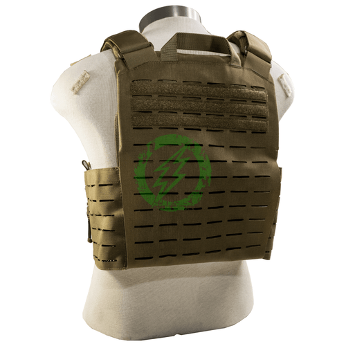 Condor Vanquish RS Plate Carrier coyote brown worn back