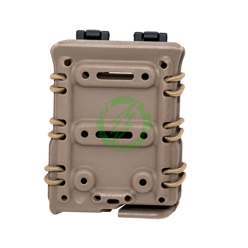 Lancer Tactical High Speed Interchangeable SR25 Magazine Molle Pouch Tan Front