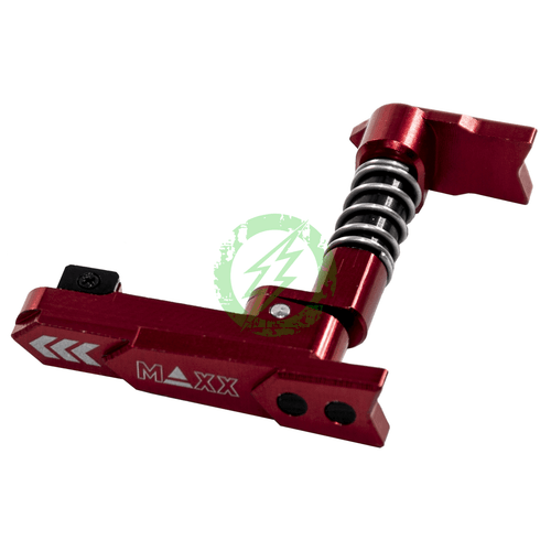 MAXX CNC Alumninum Advanced Magazine Release Style A red 2