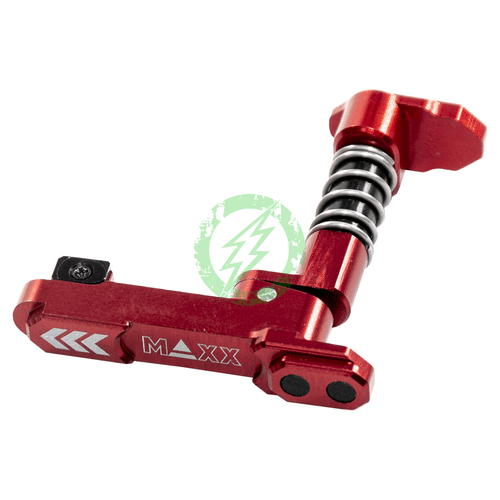 MAXX CNC Aluminum Advanced Magazine Release Style B red