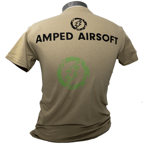 Amped Airsoft Black Splatter T-Shirt | Coyote Back