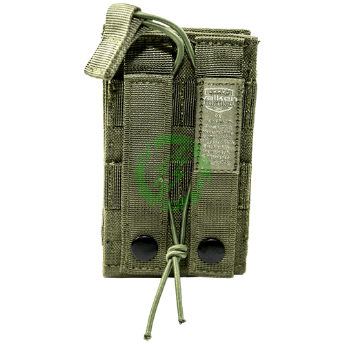 Valken Multi Olive Rifle Single Mag Pouch LC Back