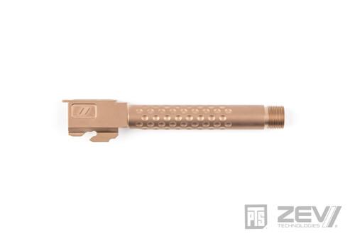 PTS ZEV Suppressor Threaded Dimpled Barrel Gold | Tokyo Marui G17