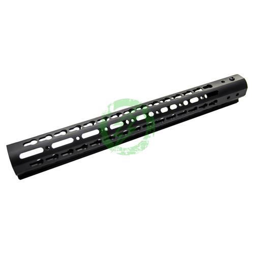 "ZCI 15"" Aluminum CNC Keymod Handguard for M4 | Black Back"