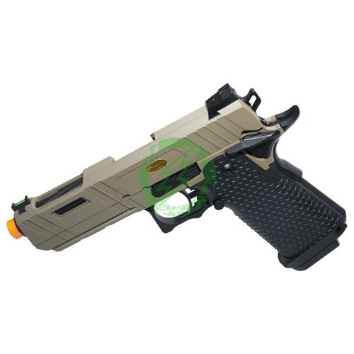 JAG Arms Tan 4.3 GMX-3 Series Gas Blow Back Pistol Left
