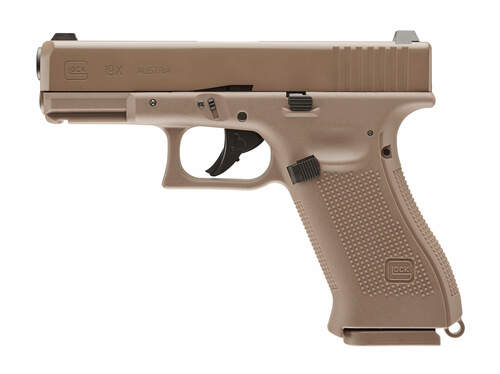 Umarex PCP Glock G19X Coyote .177 BB Gun Pistol Airgun Left