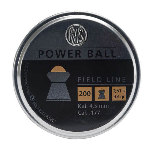 Umarex PCP RWS Power Ball .177 Airgun Pellet | 200ct Case