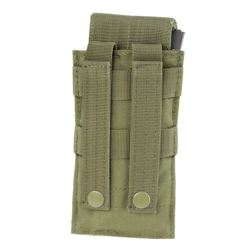 Condor - Closed Top Single M4 Mag Pouch (Olive Drab) Back Molle Attachments