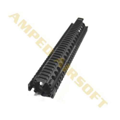 """Madbull - CNC Daniels Defense 12"""" SOPMOD II RIS II Rail System (Black) Top View"""