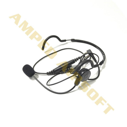Code Red Headsets - CQB-MID Behind-the-head Headset (Midland Radios with a two pin connector) With Push To Talk
