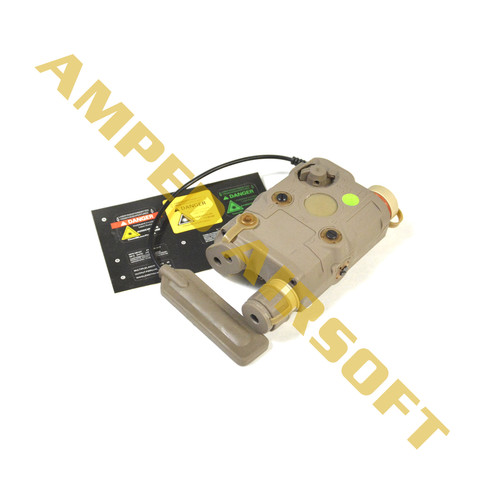 Bravo - Airsoft PEQ15 Flashlight and Green Laser Combo with Pressure Pad (Flat Dark Earth/FDE) Decals