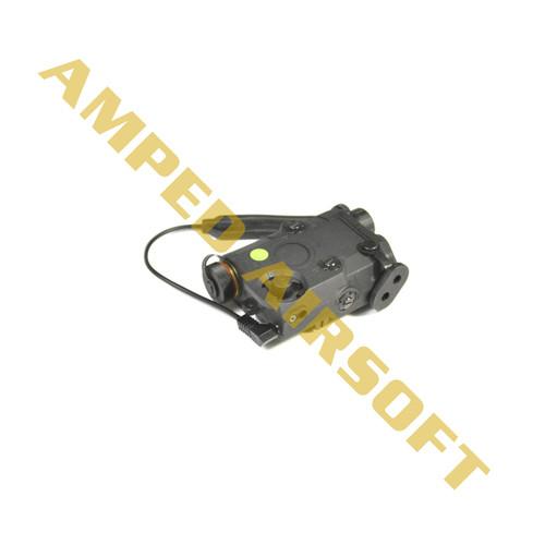 Bravo - Airsoft PEQ15 Flashlight and Green Laser Combo with Pressure Pad (Black)