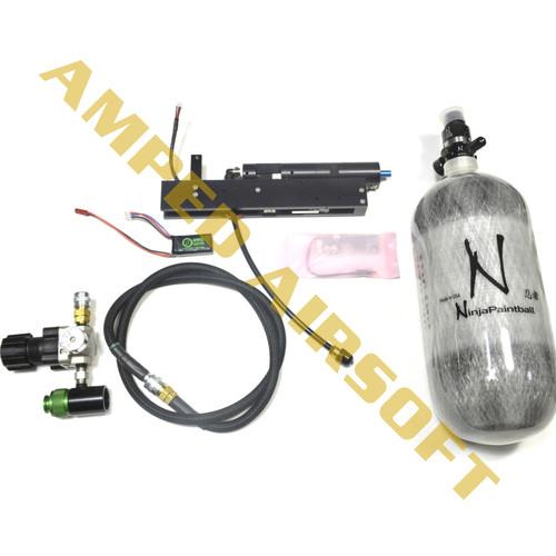Amped Custom PolarStar Fusion Engine V2 with SLP Air Rig and 90/4500 Ninja Paintball Tank