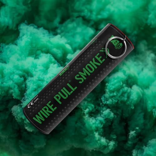 Enola Gaye Wire Pull Green Smoke Grenade Smoke Plume