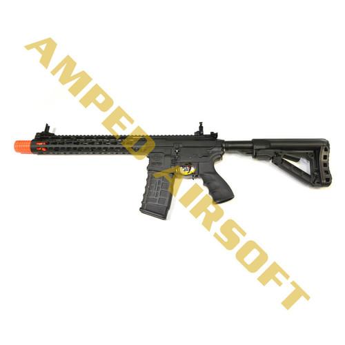 "Amped Custom HPA Rifle - G&G Combat Machine CM16 Wild Hog 12"" (Black)"