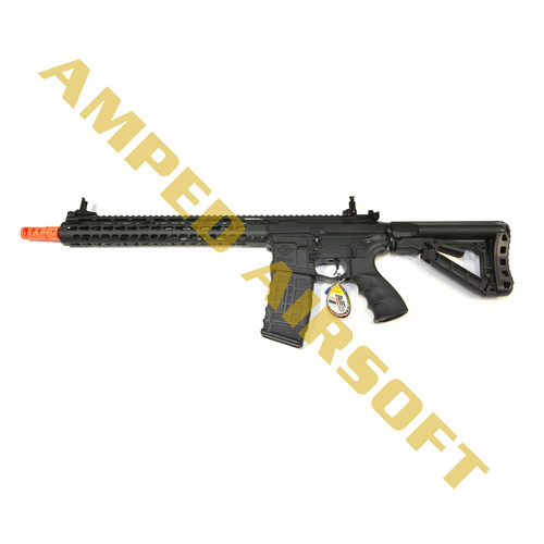 "Amped Custom HPA Rifle - G&G Combat Machine CM16 Wild Hog 13.5"" (Black)"