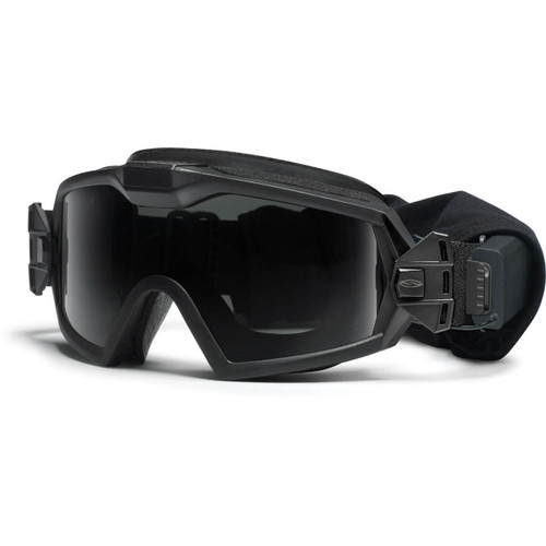Smith Optics Elite - Outside The Wire (OTW) Turbo Fan Tactical Goggles (Black Frame / Clear & Grey Lens)