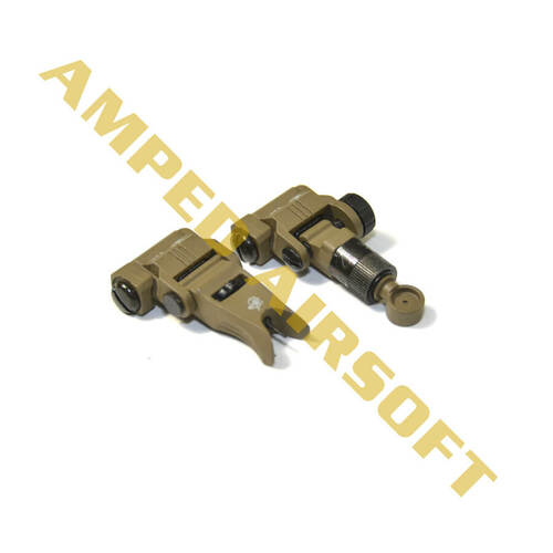 Knights Armament Airsoft - Back Up Iron Sights (Tan)