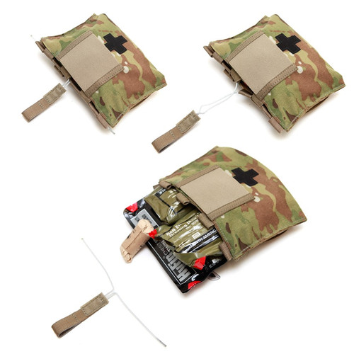 LBX Tactical - Med Kit Blow-Out Pouch (Multicam) Loaded with Medical Supplies