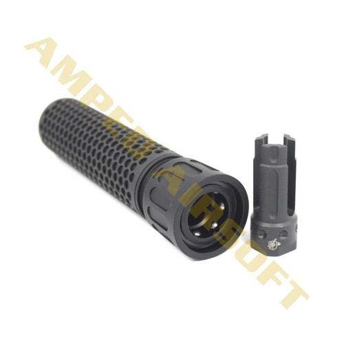 Knights Armament Airsoft - KAC 556 QDC Airsoft Suppressor w/ Quick Detach Function (14mm CCW/Black) with Flash Hider Removed