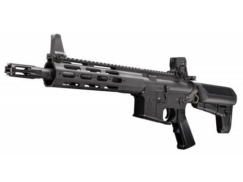 Amped Custom HPA Rifle - Krytac ALPHA CRB (Black) Stock Photo Left Profile