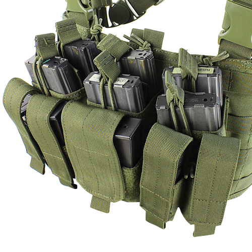Condor - Recon Chest Rig (Olive Drab) Magazine Pouches