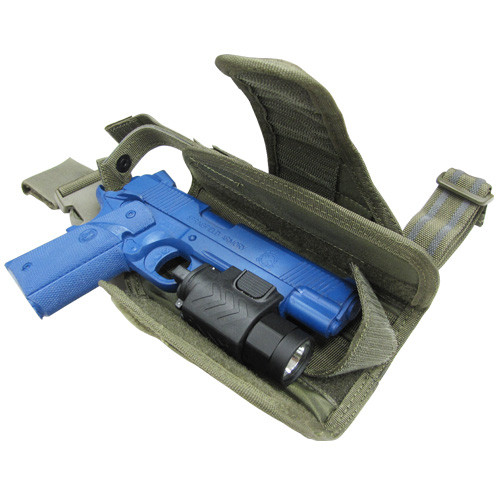 Condor - Tornado Tactical Leg Holster (Olive Drab) Adjustable for Many Sized Pistols and Lights