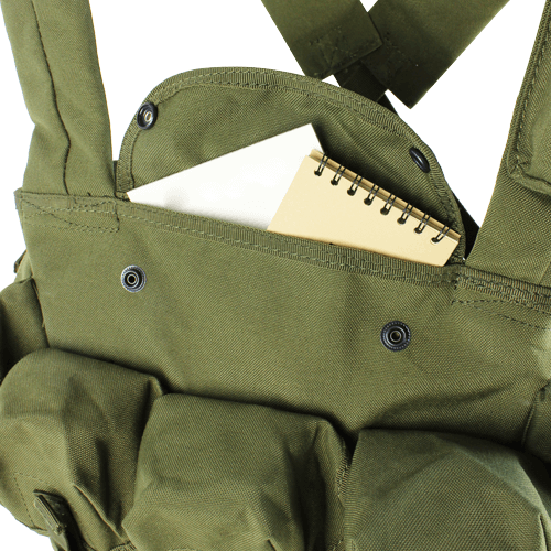 Condor - Seven Pocket Chest Rig (Olive Drab) Inner Pocket Compartment