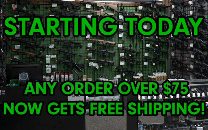 amped airsoft free shipping for any orders over 75 dollars
