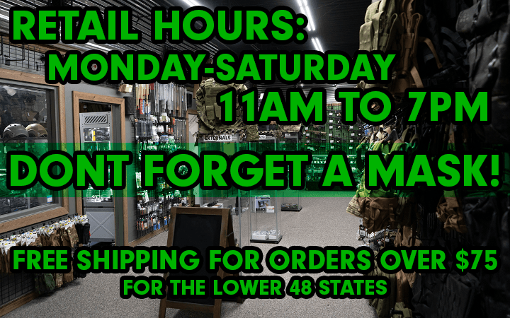 amped airsoft retail hours dont forget a mask free shipping for orders over 75