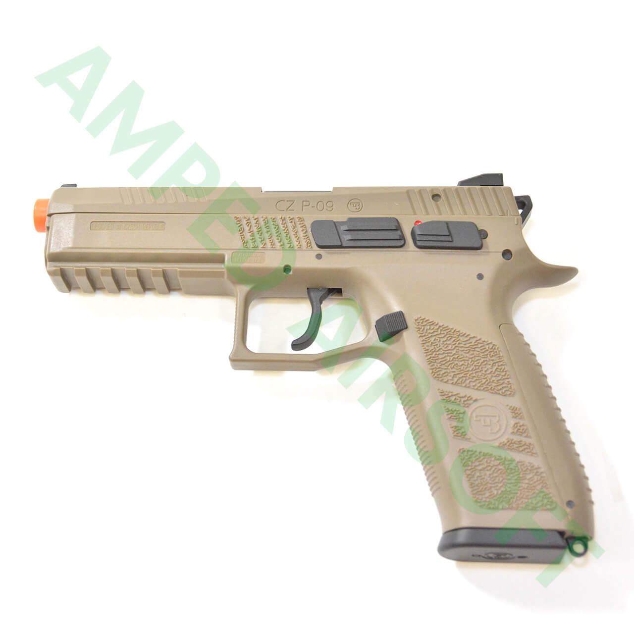 Action Sport Games - CZ 75 P-09 Polymer Gas Blowback Airsoft Pistol (FDE)