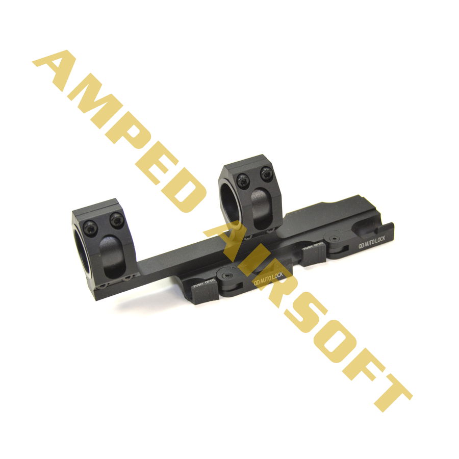 GK Tactical - 25/30mm QD Extension Dual Scope Mount (Black)