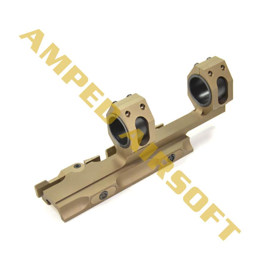 GK Tactical - 25/30mm QD Extension Dual Scope Mount (Tan)