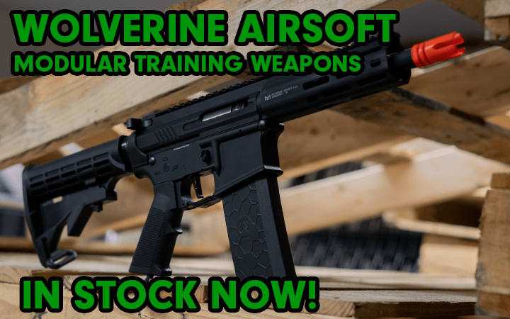 amped airsoft wolverine modular training weapons now available in stock mtw
