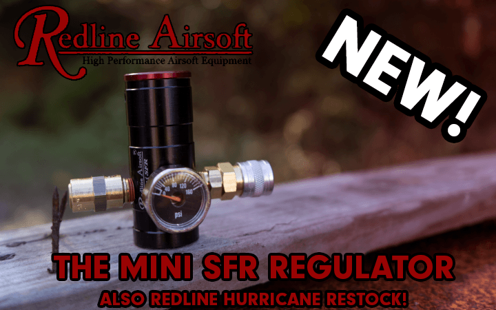 amped airsoft redline mini sfr regulator hurricane restock