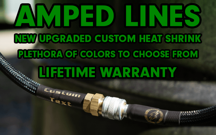amped airsoft line heat shrink custom text colors lifetime warrenty