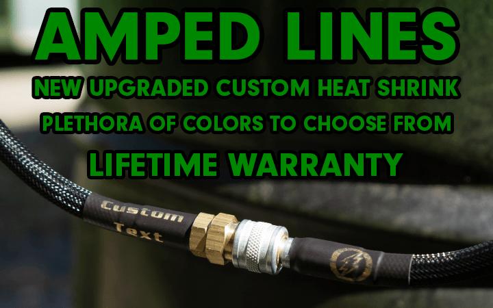 amped airsoft line heat shrink custom text colors lifetime warrenty