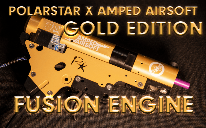 amped airsoft custom fusion engine polarstar gold lil wes available now