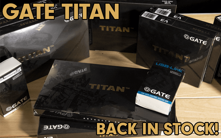 amped airsoft gate titan restock aeg upgrade tech internals