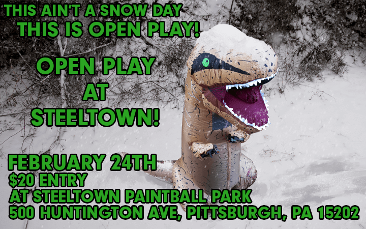 amped airsoft open play at steeltown paintball park february 24th